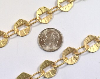 Button Hole Chain - Matte Gold - CH66 - Choose Your Length