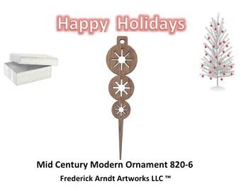 820-6 Mid Century Modern Christmas Ornament