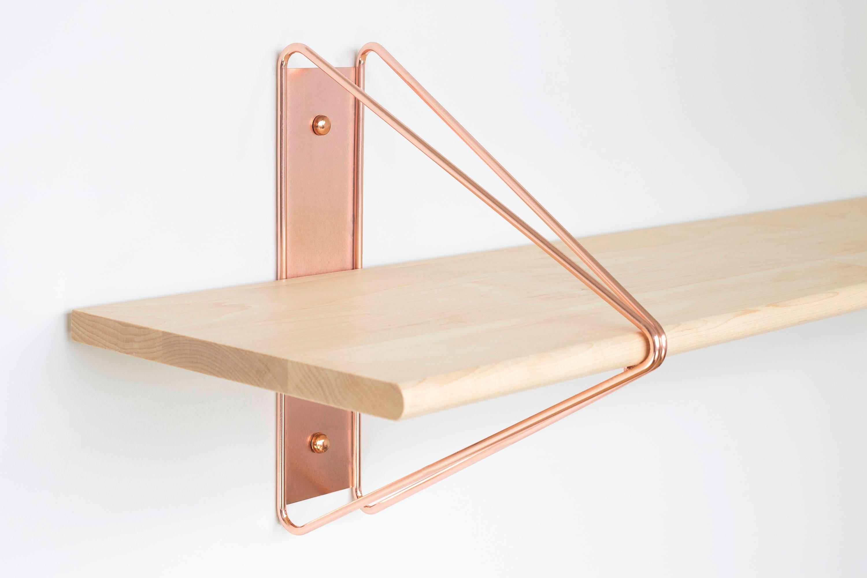🔎zoom. modern shelving bracket copper shelving bracket shelving