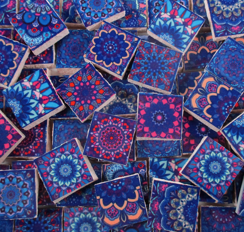 Ceramic Mosaic Tiles - Blue Pink Purple Moroccan Tile Design ...