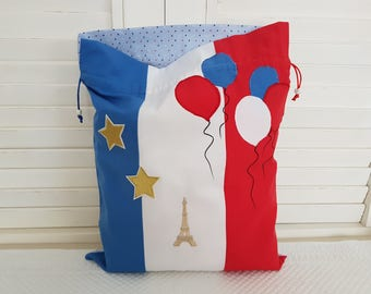 French Paris flag party