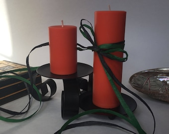 Citrus Scented Soy Wax Pillar Candles