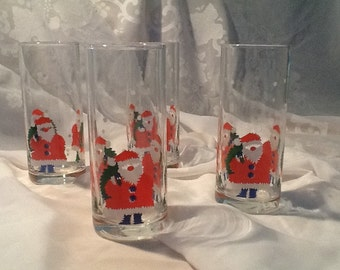 Four Festive Drinking Glasses