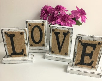 LOVE Standing Sign, wedding love sign, wood love sign, wedding decor, sweetheart table, rustic wooden sign, Rustic letters, wooden letters