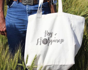 Peas & Hoppiness Fair Trade Certified Reusable Grocery Bag