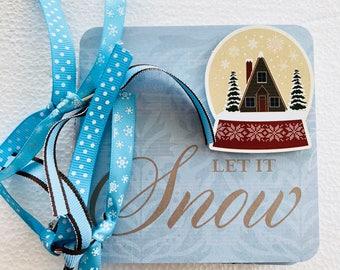 Snow Mini Album, 4x4 Mini Album, Chipboard Mini Album, Let it Snow Mini Album, Snow Scrapbook, Mini Scrapbook, Scrapbook Mini Album, Winter