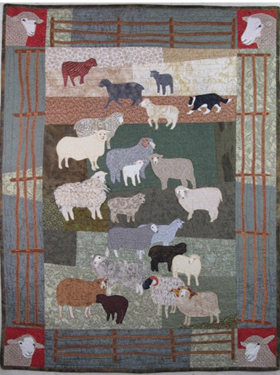 Woolly Sheep Pdf Downloadable Machine Applique Pattern By