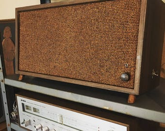 Mid certury vintage Fisher bluetooth and passive speaker