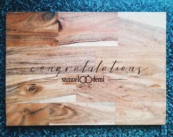 Personalised Wedding Cutting Board, Custom Chopping Board, Personalised Gift, Acacia Wood Cutting Board, Housewarming Gift, Wedding Gift