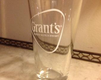 Set of 6 Grant's Whisky Shaker Glasses