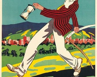 Vintage Adelaide Australia Tourism  A3 Print