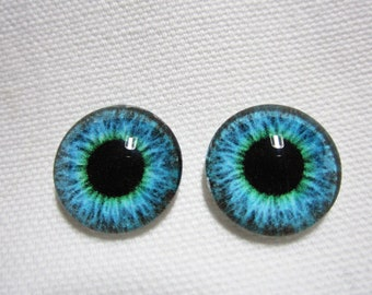 Doll eyes glass eyes for your art dolls or fantasy sculptures 14mm eyes