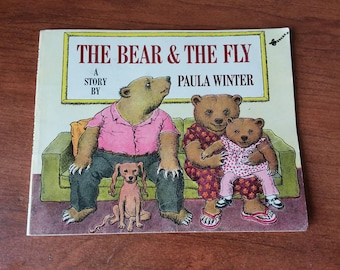The Bear and the Fly, A Story By Paula Winter a vintage children sticker book