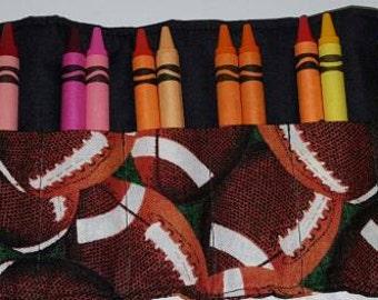 Football Crayon roll
