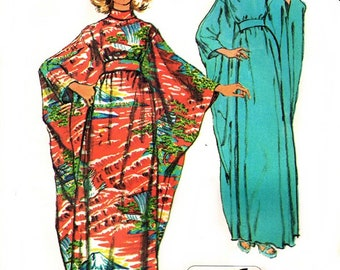 Simplicity 5900 Kitschy High Necked Batwing Oversized Caftan / 1973 ALLSIZES UNCUT