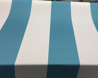 P Kaufmann Blue and white Stripes Soil and stain repellent Fabric by the yard Multipurpose