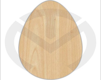 Unfinished Wood Easter Egg (smaller) Laser Cutout, Wreath Accent, Door Hanger, Ready to Paint & Personalize, Various Sizes