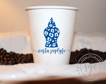 Ginger Jar | Customizable Paper Cups | social graces and Co