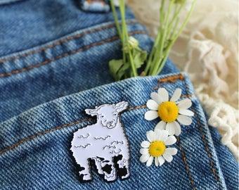 Lamb Soft Enamel Lapel Pin