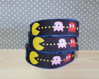 1 meter of Ribbon grosgrain Pac - Man