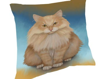 Siberian Cat Throw Pillow