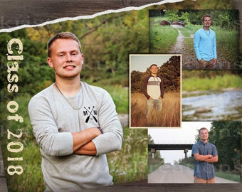 Digital Graduation Announcement-Double Sided-Fully Customizable