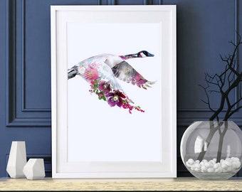 Canada Goose Fine Art Print, Canada Goose Paining, Canada Goose Wall Art, Canada Goose Home Décor