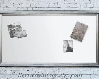 unusual design magnetic bulletin board. LaRGE White DRY ERASE BOARD For Sale Framed Magnetic Whiteboard Dry Erase  53 x29 board Etsy