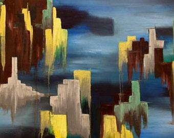 Cityscape - original painting