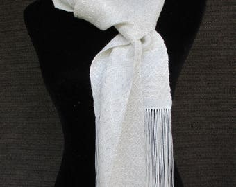 Tencel and Linen Handwoven Scarf