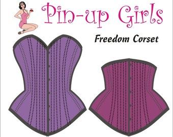 The FREEDOM Corset PATTERN  by Pin-up Girls