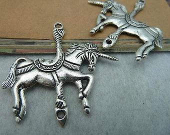 A Unicorn pendant silver 45 x 44 mm