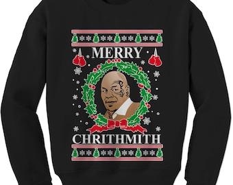 Merry Chrithmith Ugly Christmas Adult Crewneck Sweatshirt