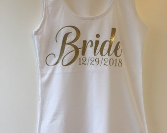 Bride mockup, bride tank top, bride tshirt, personalised bride tshirt, rose gold, bride to be, futher Mrs, wedding gift, bride wedding gift