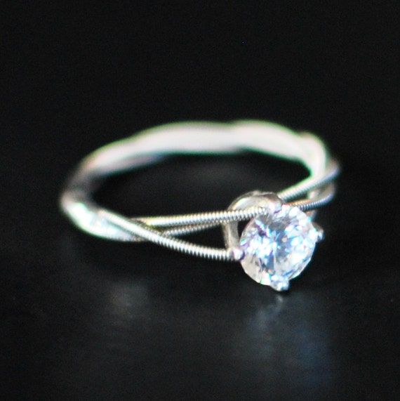 Guitar String Engagement Ring Purity Ring Birthstone Ring