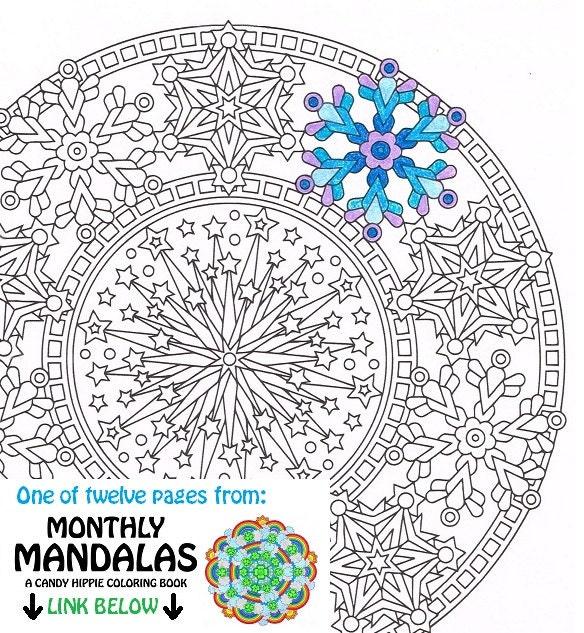 Mandala para colorear página feliz año nuevo página para