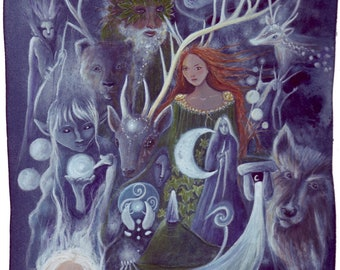 The Silver Wheel ~ Arianrhod Small Art Print