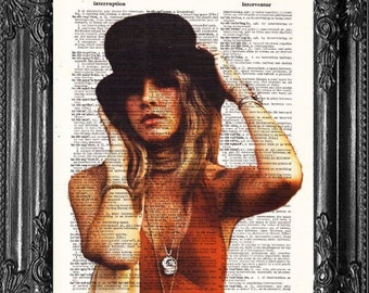 Stevie Nicks Bohemian Decor- Fan Gift  Cool Poster- Full Color- 1970s Music Gift- Husband GIFT- Boyfriend Gift
