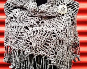 Shawl Wrap Cotton ' Twisted Steel'