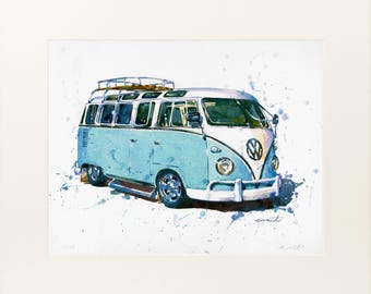 Campervan 1 - Large Limited Edition Print by Richard Eraut