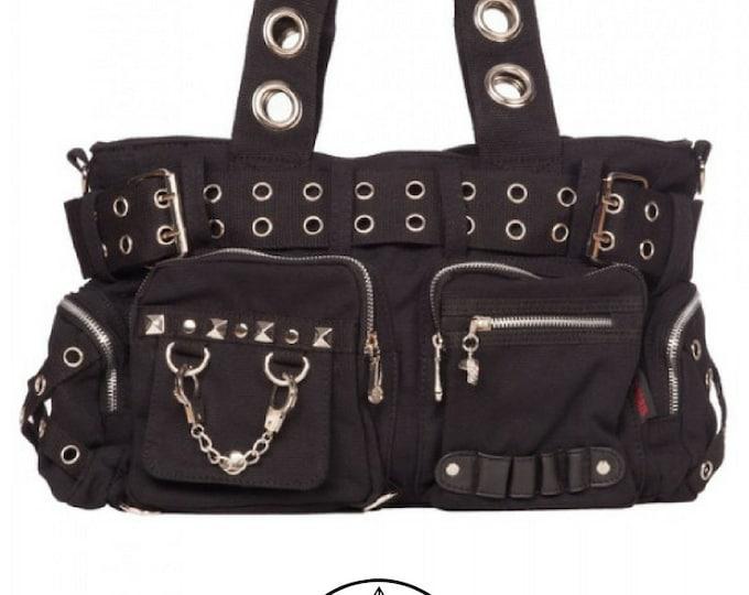 Handcuffs Bag - Handbag studs Skull Bag Gothic Handcuffs