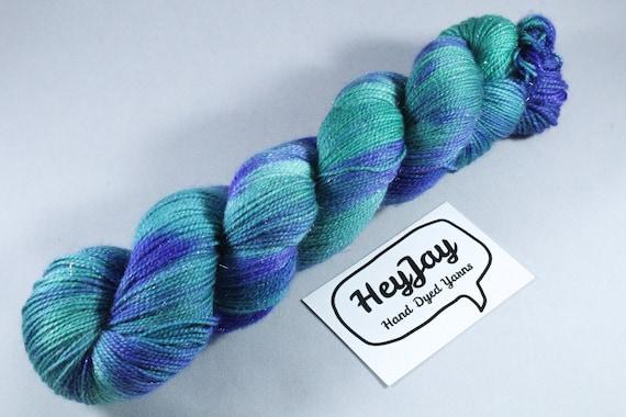 Hand Dyed Sparkle Merino Sock Yarn - Nori