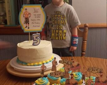 Wrestling cake Etsy