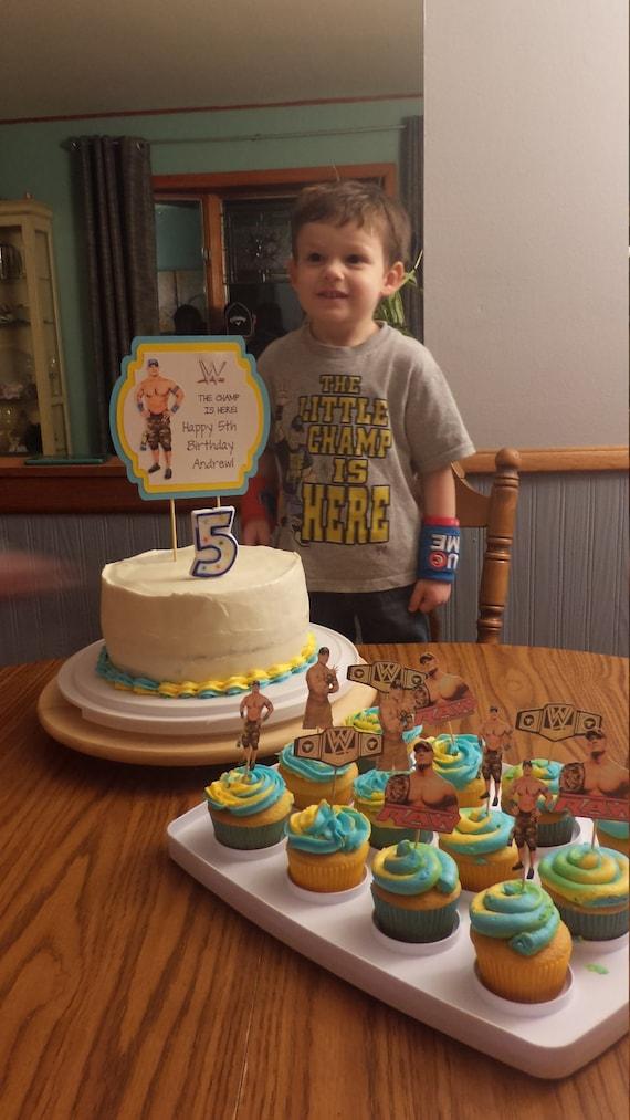 John Cena Cake Topper WWE John Cena Birthday Party