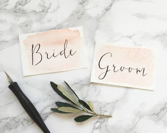 Modern Calligraphy Watercolour Place Cards