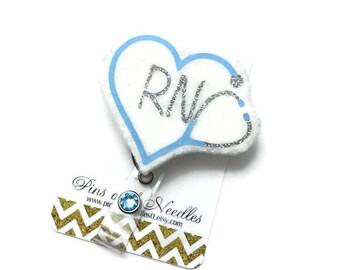 Rn ID Badge Reel - Retractable Badge Reel - Cute Id Badge Reels - Stethoscope Badge Holder - Nurse ID Badge Reel - Credentials ID Badge Reel