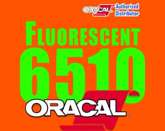 """1 Sheet 12"""" x 24"""" Oracal 6510 Fluorescent Vinyl"""