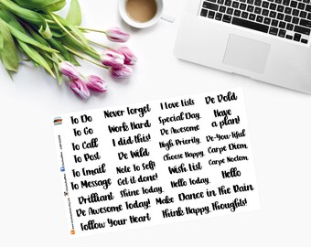 PLANNER STICKERS  Word ONLY CAM00308