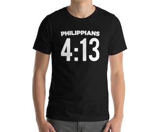 Bible Verses Shirt Men Teens Christian Philippians 4:13 I Can Do All