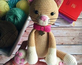 Amigurumi Cat Doll : Crochet cat etsy